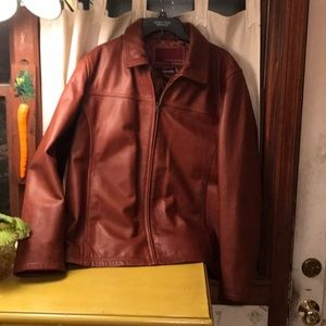 Wilsons Leather brown leather jacket xl